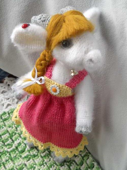 коза мягкая вязаная игрушка своими руками крючком укрась свой мир