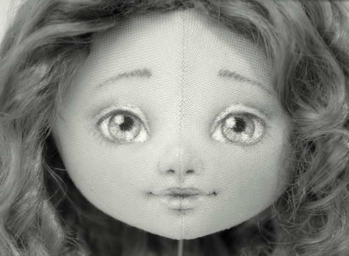 Нарисовать глаза тряпичной куклы