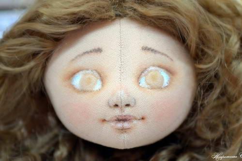 Нарисовать лицо кукле акриловыми красками поэтапно