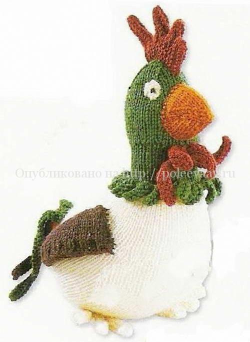 вязаный пасхальный петушок вязание спицами укрась свой мир
