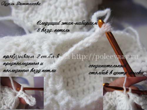 пинетки-сандалики крючком мастер класс 12