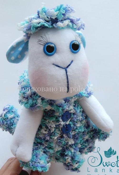 игрушка овечка из флиса